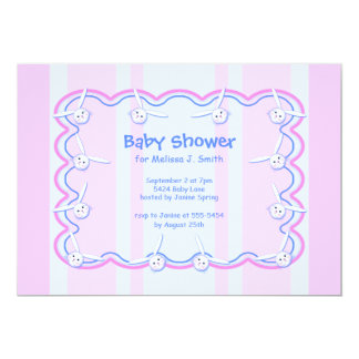 Little Bunny Heads Baby Shower Card