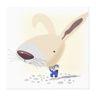 """Little Bunny In Blue Pants 24""""x24"""" Wrapped Canvas"""