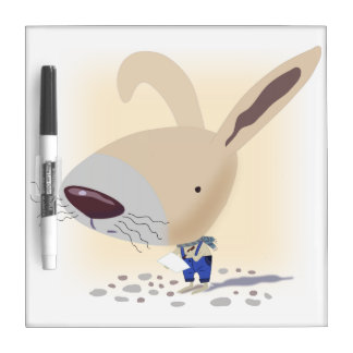 Little Bunny In Blue Pants Small Dry Erase Board