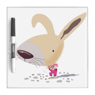 Little Bunny In Pink Pants Small Dry Erase Board