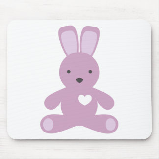 Little Bunny in Purple Mouse Pad