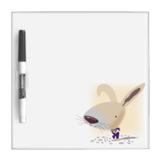 Little Bunny In Purple Pants Small Dry Erase Board