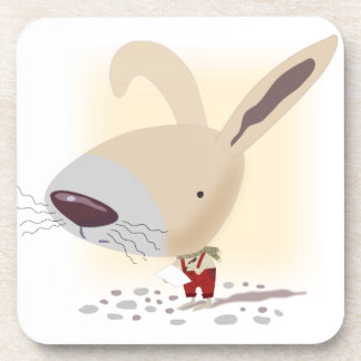 Little Bunny In Red Pants Plastic Coasters