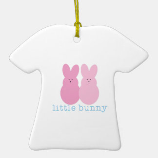 Little Bunny Double-Sided T-Shirt Ceramic Christmas Ornament