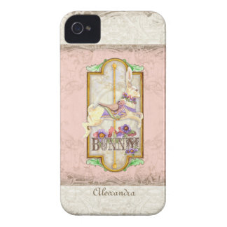 Little Bunny Sweet Girl Circus Carousel Vintage iPhone 4 Case