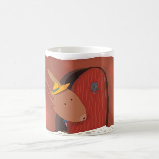 Little Bunny With Cherry Classic White Mug Brown