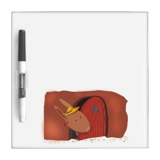 Little Bunny With Cherry Small Dry Erase Board