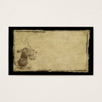 Little Bunny With Teapot- Prim Biz Cards