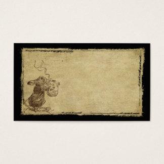 Little Bunny With Teapot- Prim Biz Cards