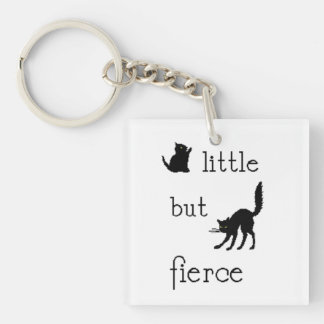 Little but Fierce key chain Square Acrylic Keychains