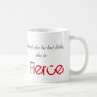Little but Fierce - Shakespeare Classic White Coffee Mug