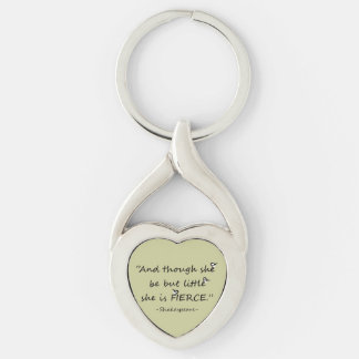 Little but Fierce Shakespeare Quote Little Birds Keychain