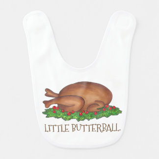 Little Butterball Thanksgiving Turkey Baby Bib