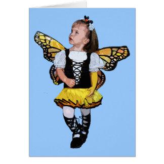 Little Butterfly Girl Card