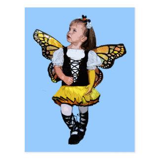 Little Butterfly Girl Postcard