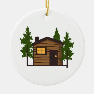 Little Cabin Ceramic Ornament