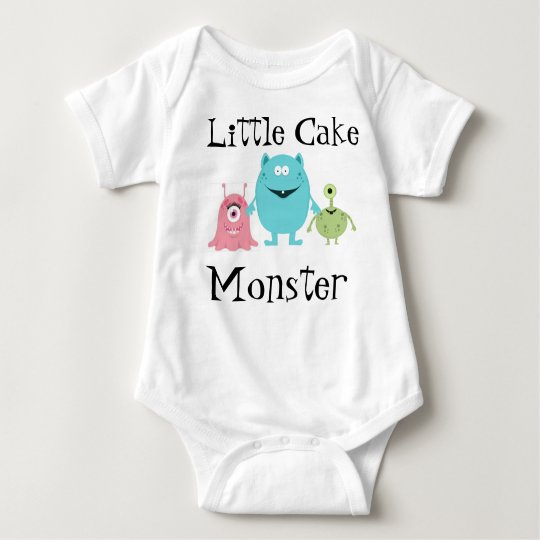 Little Cake Monster Baby Bodysuit