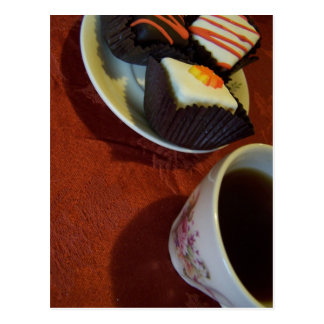 little cakes n coffee postcard