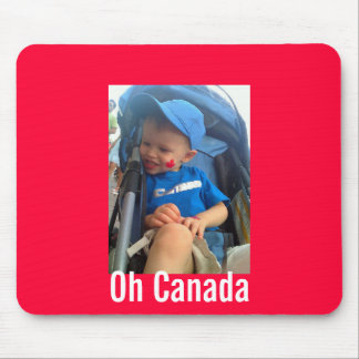 Little Canadian Celebrating on Canada Day Mouse Pad