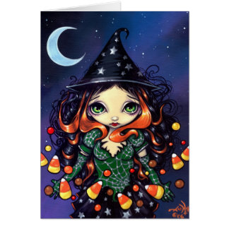 """Little Candy Witch"" Greeting Card"