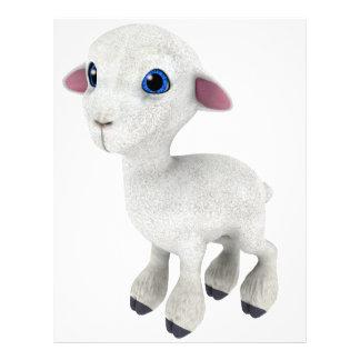 Little Cartoon Lamb Letterhead