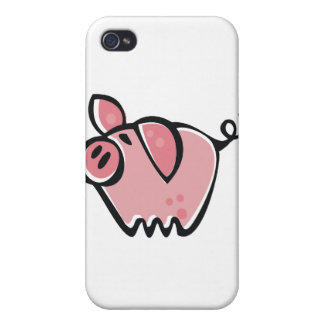 Little cartoon Pink Piggie Cover For iPhone 4