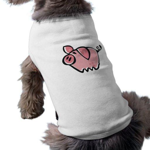 Little cartoon Pink Piggie Pet T-shirt
