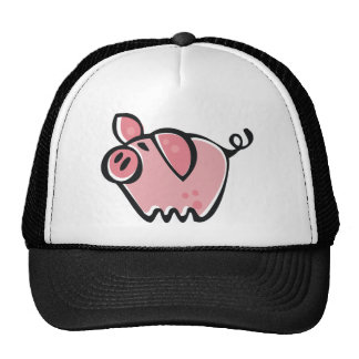 Little cartoon Pink Piggie Trucker Hat