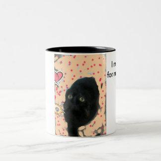 little cat Two-Tone coffee mug