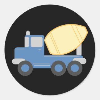 Little Cement Truck Classic Round Sticker