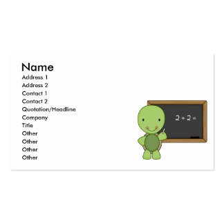 little chalkboard turtle business card