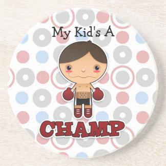 Little Champ - Sandstone Coaster - Boy