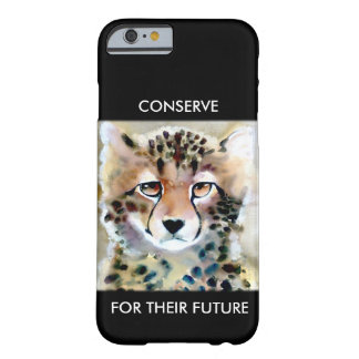 """""""Little Cheetah"""" Watercolor Print Barely There iPhone 6 Case"""