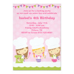 Little Chef Baking Birthday Party Invitations