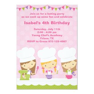 baking party invitations zazzle
