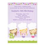 Little Chef Baking Birthday Party Invitations Custom Invites