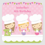 Little Chef Baking Birthday Party Stickers