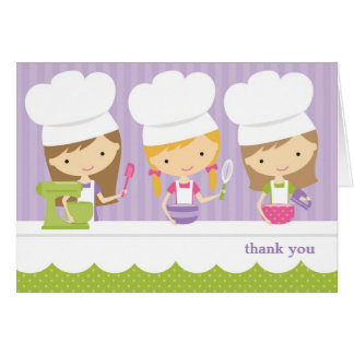 Little Chef Baking Birthday Party Thank You Cards