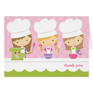 Little Chef Baking Birthday Party Thank You Cards Greeting Card