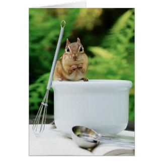 Little Chef Chipmunk Card