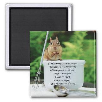 Little Chef Chipmunk Measurement Equivalents Magnet
