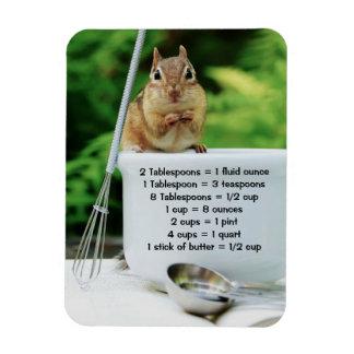 Little Chef Chipmunk Measurements Premium Magnet