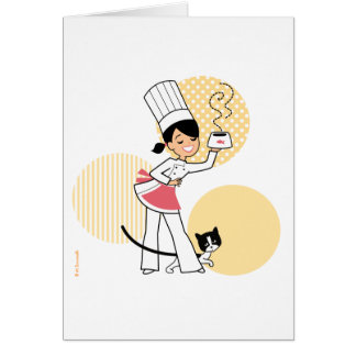 Little Chef Illustration on Greeting Card