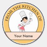 Little Chef Illustration on Sticker
