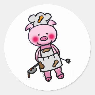Little chef classic round sticker
