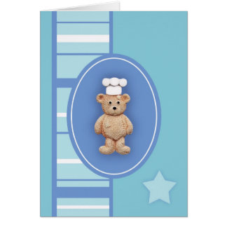 Little Chef Teddy Bear Greeting Card