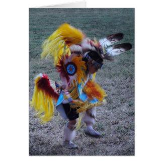Little Cherokee Dancer Greeting Cards