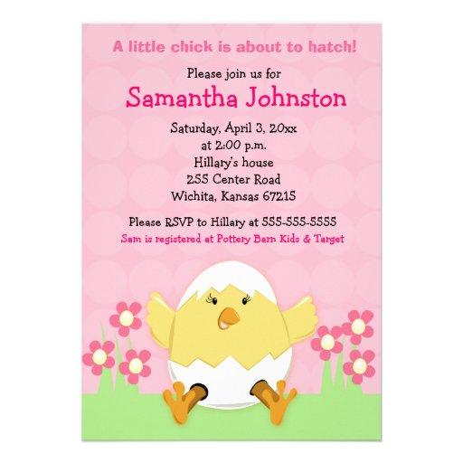 Little Chick Easter Baby Shower Invitation
