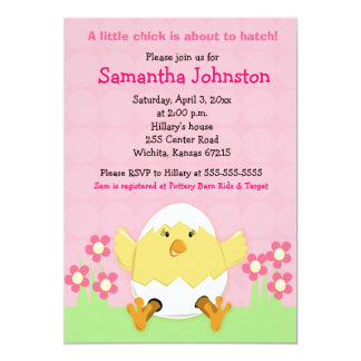 "Little Chick Easter Baby Shower Invitation 5"" X 7"" Invitation Card"