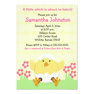 Little Chick Easter Baby Shower Invitation